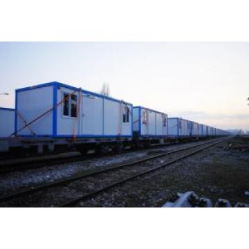 Yellow Frame Folding Container House With Steel Security Door , PVC Windows Original import