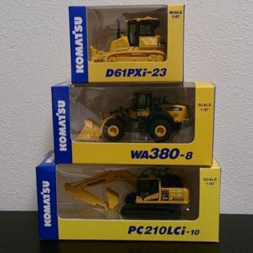 KOMATSU Gambia  1:87 WA380-8 WHEEL LOADER  PC210LCi-10 EXCAVATOR D61PXi-23 JAPAN Limited
