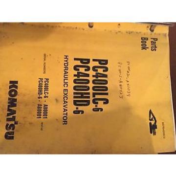 KOMATSU SolomonIs PC400 400  EXCAVATOR PARTS CATALOG BOOK MANUAL BEPB4006C0