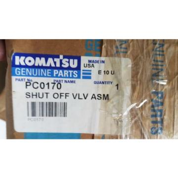 New Guyana  Komatsu Shut Off Valve Assembly PC0170 Made in USA
