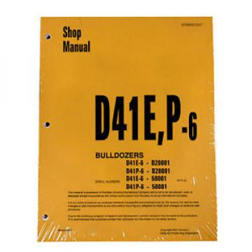 Komatsu Moldova, Republic of  D41E-6, D41P-6 Series Dozer Service Shop Repair Printed Manual
