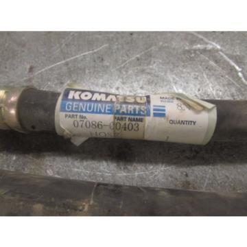 LOT Luxembourg OF 2 - NEW GENUINE KOMATSU hydraulic HOSES 07086-00403