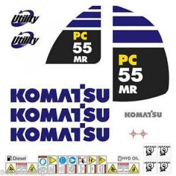 Komatsu United States of America  PC55MR-2 Decals Stickers, repro Kit for Mini Excavator