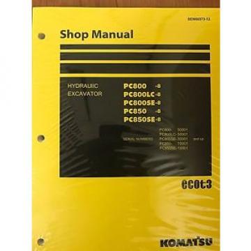 Komatsu Belarus PC800-8 PC800LC-8 PC800SE-8 PC850-8 PC850SE-8 Repair Manual Shop