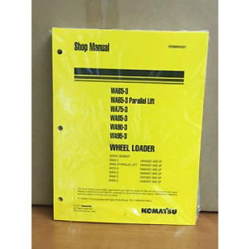 Komatsu Cuinea  WA65-3,WA75-3,WA85-3,WA90-3,WA95-3 Wheel Loader Shop Service Manual