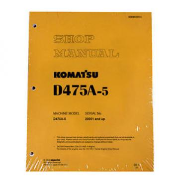 Komatsu Guinea  D475A-5 Service Repair Workshop Printed Manual