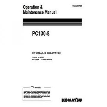 KOMATSU Botswana  PC130-8 OPERATORS MANUAL ON CD *FREE UK POSTAGE*