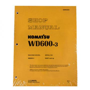 Komatsu Reunion  Service WD600-3 Series Wheel Dozer Shop Manual