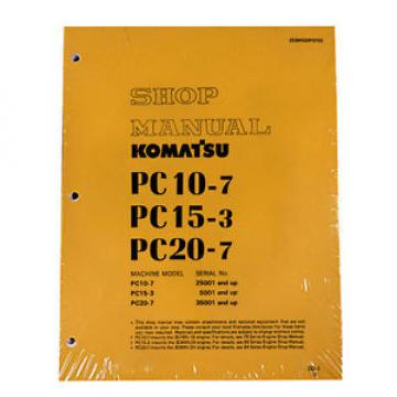 Komatsu Bahamas  Service PC10-7, PC15-3, PC20-7 Shop Printed Manual NEW