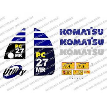 KOMATSU Reunion  PC27MR DIGGER DECAL STICKER SET