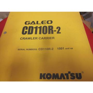 Komatsu Laos  CD110R-2 Crawler Carrier Operation & Maintenance Manual s/n 1501-