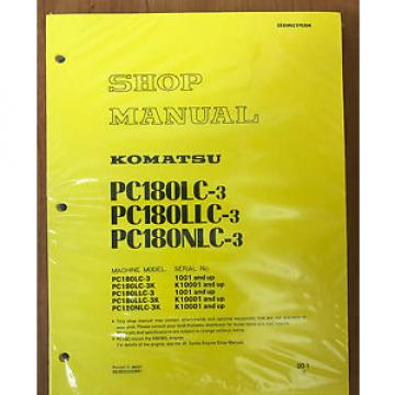 Komatsu Slovenia  PC180LC-3, PC180LLC-3 PC180NLC-3 Service Repair Printed Manual