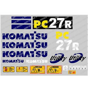 KOMATSU Uruguay  PC27R DIGGER DECAL STICKER SET