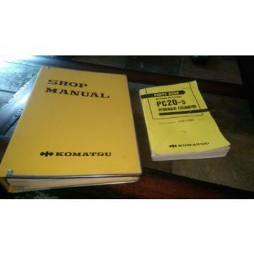 Komatsu Botswana  PC20-5 repair & parts manuals