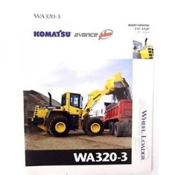 Komatsu Luxembourg  WA320-3 Wheel Loader Original Sales/specification Brochure