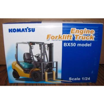 KOMATSU Ethiopia  BX50 Engine Fork Lift Truck Toy 1/24 Die Cast Metal Collectible  HTF