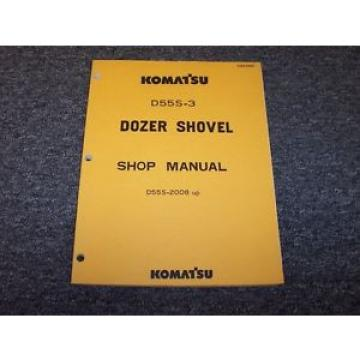 Komatsu Solomon Is  D55S-3 Track Loader Crawler Dozer Shovel Shop Service Repair Manual Book