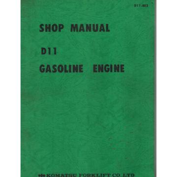 KOMATSU Malta D11 ENGINE SHOP  MANUAL D11-BE2