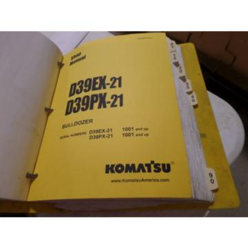 KOMATSU Barbados  D39EX-21 D39PX-21 BULLDOZER SHOP MANUAL S/N 1001 & UP