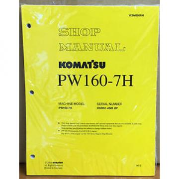 Komatsu Malta  Service PW160-7H Excavator Shop Manual NEW REPAIR