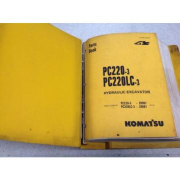 Komatsu Liechtenstein  PC220-3,PC220LC-3 Hydraulic Excavator Parts Book PEPE02060301