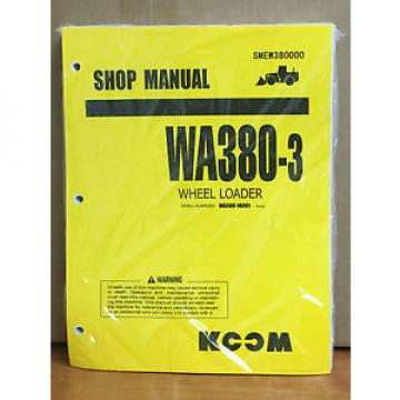 Komatsu France  WA380-3 Wheel Loader Shop Service Repair Manual (10001 & up)