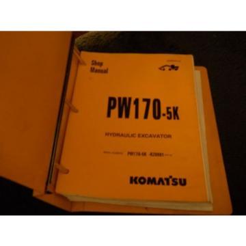 Komatsu Egypt PW170-5K shop manual