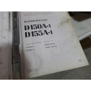 KOMATSU Honduras D150A-1 D155A-1 DOZER SHOP MANUAL S/N 8408, 15001 & UP