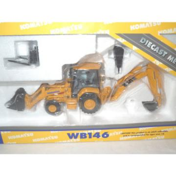 Komatsu Malta WB146 Backhoe/Loader With Work Tools By First Gear 1/50th Scale