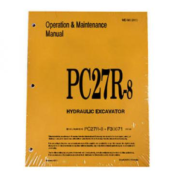 Komatsu Cuba  PC27R-8 Operation & Maintenance Manual Excavator Owners Book #2
