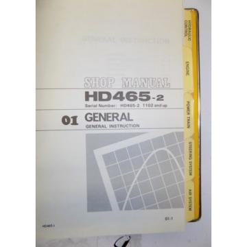 KOMATSU Costa Rica  HD465-2 Dump Rock Haul Quarry Truck Service Repair Manual Book Shop 1983