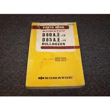 Komatsu Barbuda  D80A-18 D80E-18 D85A-18 D85E-18 Bulldozer Dozer Parts Catalog Manual