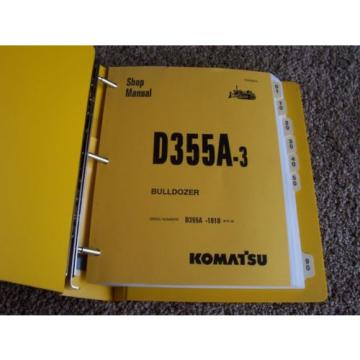 Komatsu Solomon Is  D355A-3 -1010- Bulldozer Dozer Factory Service Shop Repair Manual