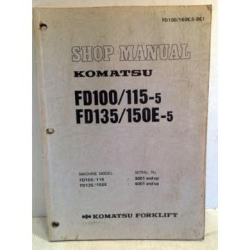 Komatsu Solomon Is  Forklift Shop Manual FD100/115-5, FD135/150E-5, Service & Repair (3194)