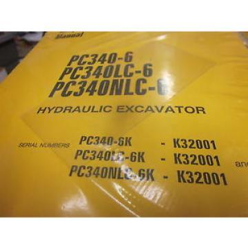 Komatsu Liechtenstein PC340-6 PC340LC-6 PC340NLC-6 Excavator Repair Shop Manual
