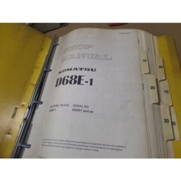 KOMATSU Slovenia  D68E-1 ENGINE SHOP MANUAL S/N 45001 & UP - MISSING SCHEMATICS