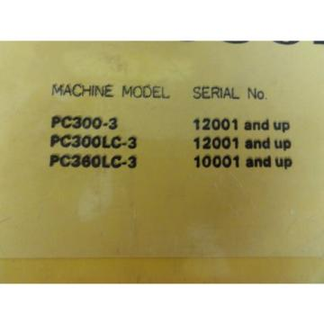 Komatsu Reunion  PC300-3 PC300LC-3 PC360LC-3 Shop Manual