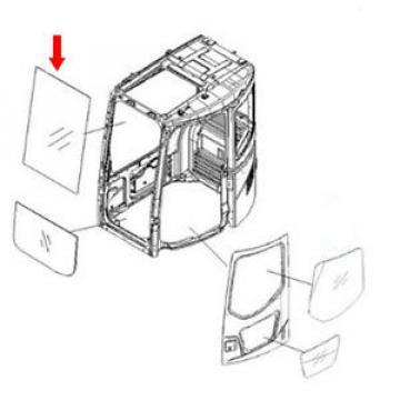 22B-54-17931 Hongkong Front Upper Glass For Komatsu Excavator PC228US-3-KU PC228US-3-W1