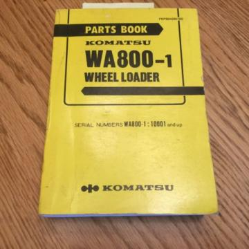 Komatsu Malta  WA800-1 PARTS MANUAL BOOK CATALOG WHEEL LOADER PEPB04280100 GUIDE LIST