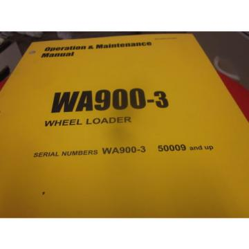 Komatsu France  WA900-3 Wheel Loader Operation & Maintenance Manual s/n 50009 & Up