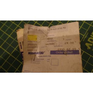 GENUINE Oman KOMATSU REPLACEMENT HYDRAULIC HOSE ASSEMBLY 417-62-23170, 4176223170 NEW