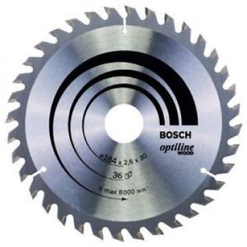 Bosch 2608640611 - Lama per sega circolare da legno Optiline, dimensioni: 184 x