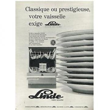 Publicité Lesotho Advertising 1970 Le lave Vaisselle Linde
