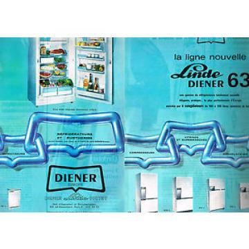 PUBLICITE Kuwait ADVERTISING 1962 DIENER LINDE   réfrigérateurs congélateurs ( 2 pages)