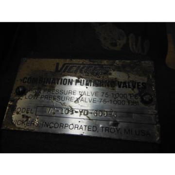 VICKERS Egypt HYDRAULIC PUMP VC-108-YD-6DD-6 ~ USED
