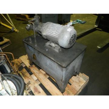2 Uruguay HP AC Motor w/ Continental Hydraulic Pump and Tank, PVR6-6B0B-RF-0-1-F, Used