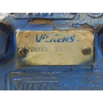 VICKERS Liberia 25V21A 1A22R 25V21A1A22R 7/8#034; APPROX SHAFT HYDRAULIC VANE PUMP REBUILT