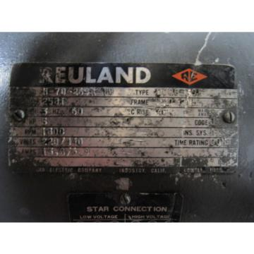 REULAND/VICKERS Liberia 2581/ v-235-6-1C-S63-10 5Hp 220/440V 1800Rpm Motor W/Vane Pump