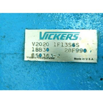 Vickers Costa Rica  V2020 1F13S6S 1BB30 Double Vane Pump
