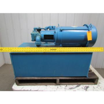 Vickers Guyana  V20-1P7P-1D-11 Fixed Displacement 30 Gal Hydraulic Power Unit 10HP 3PH